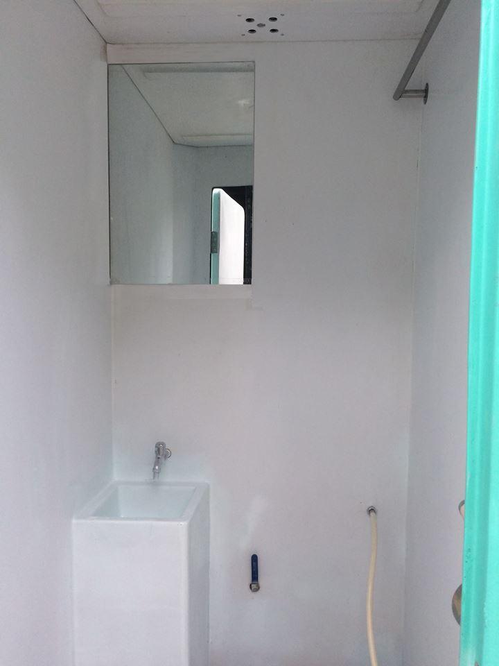 Gương phòng tắm chuyên dùng, hệ thống điện và nước âm tường