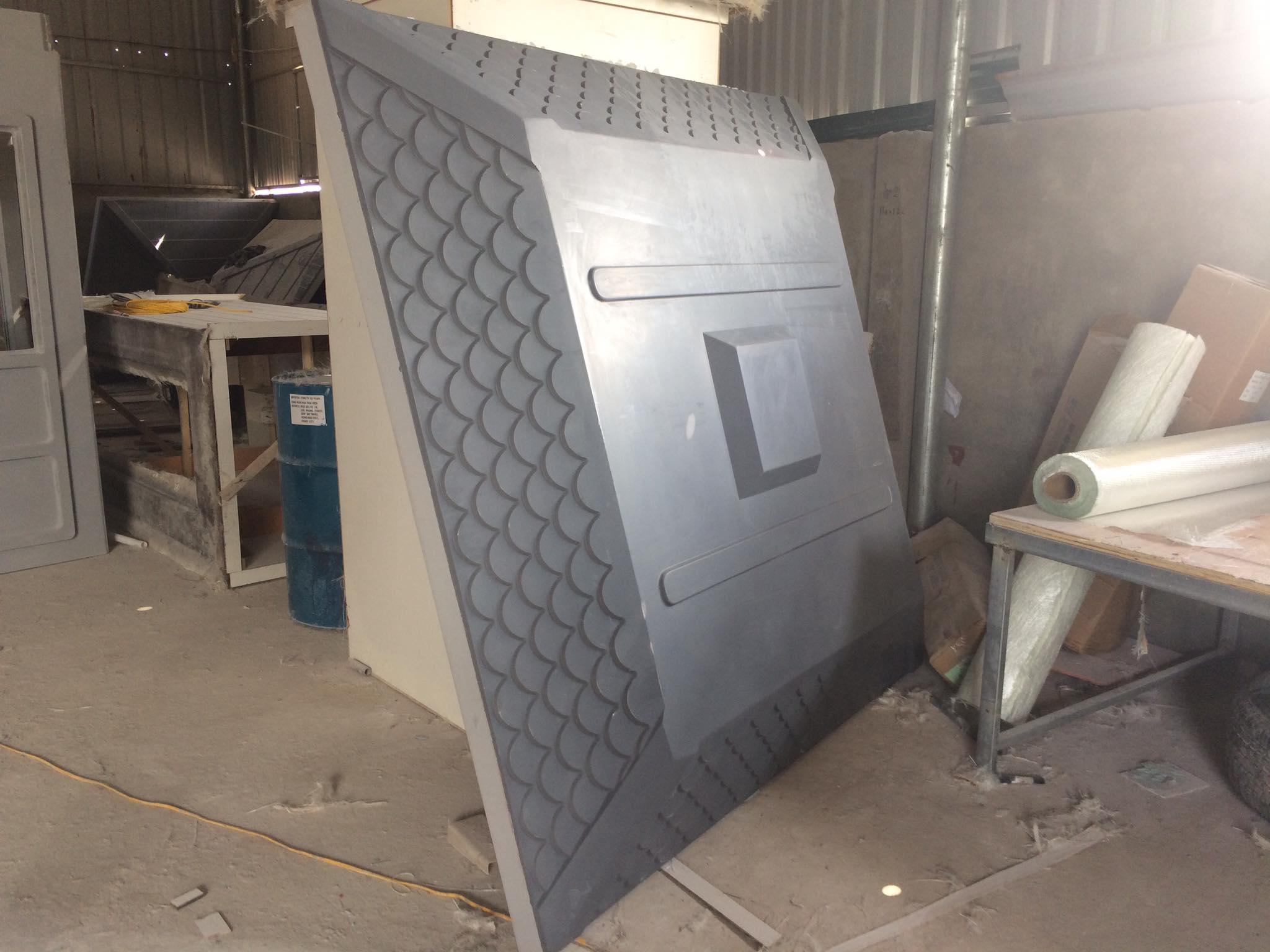 Mái giả ngói được đúc bằng composite