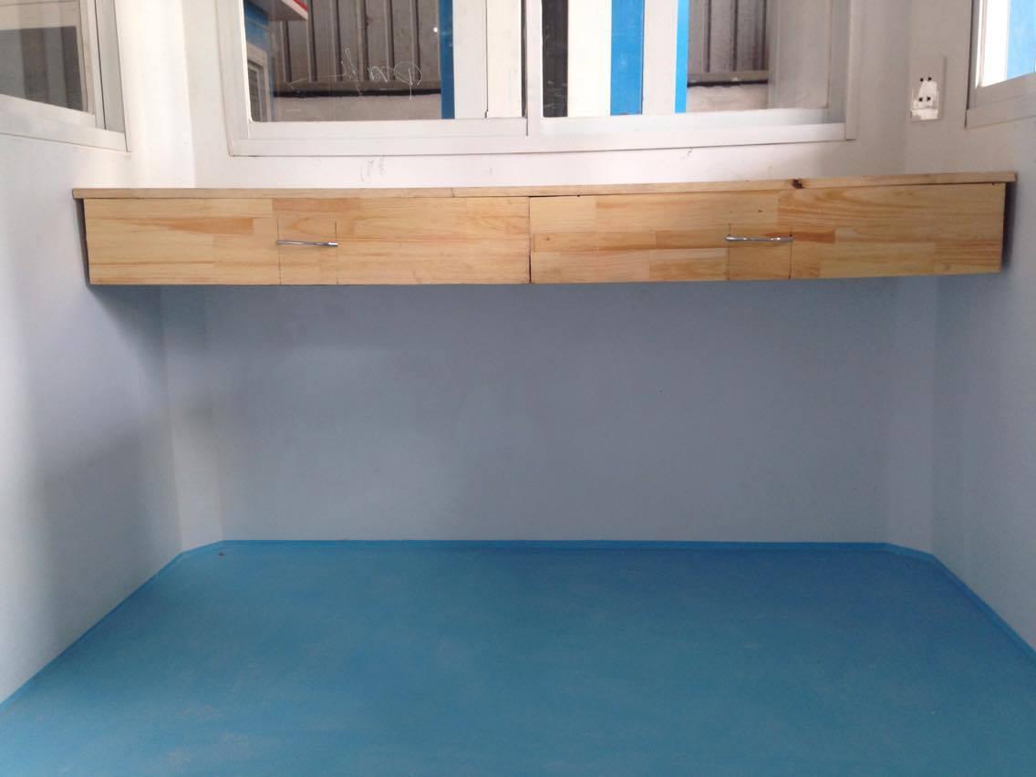Nội thất Cabin chòi bảo vệ composite mái nhọn