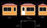 Thiết kế nhà bảo vệ kích thước thân 1,9 x3,15m