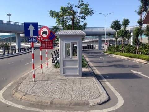 Cabin nhà bảo vệ tại sân bay Đà Nẵng