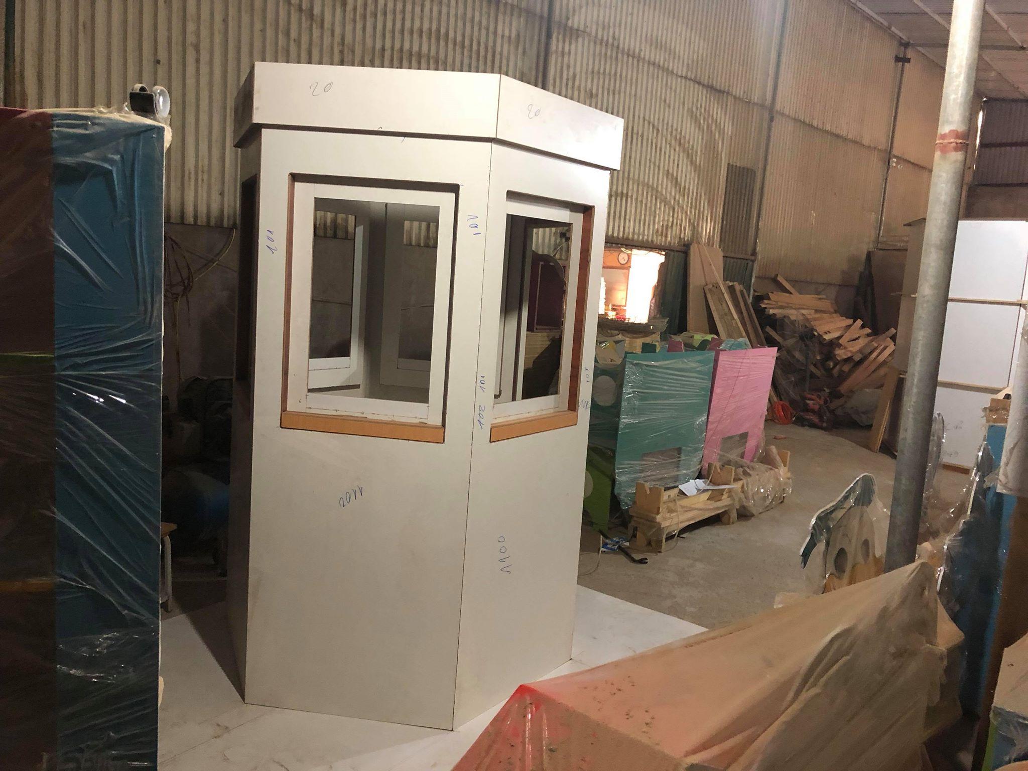 Có nhiều cỡ cabin bốt gác lục giác khác nhau chúng tôi sẽ xuất xưởng trong năm 2018