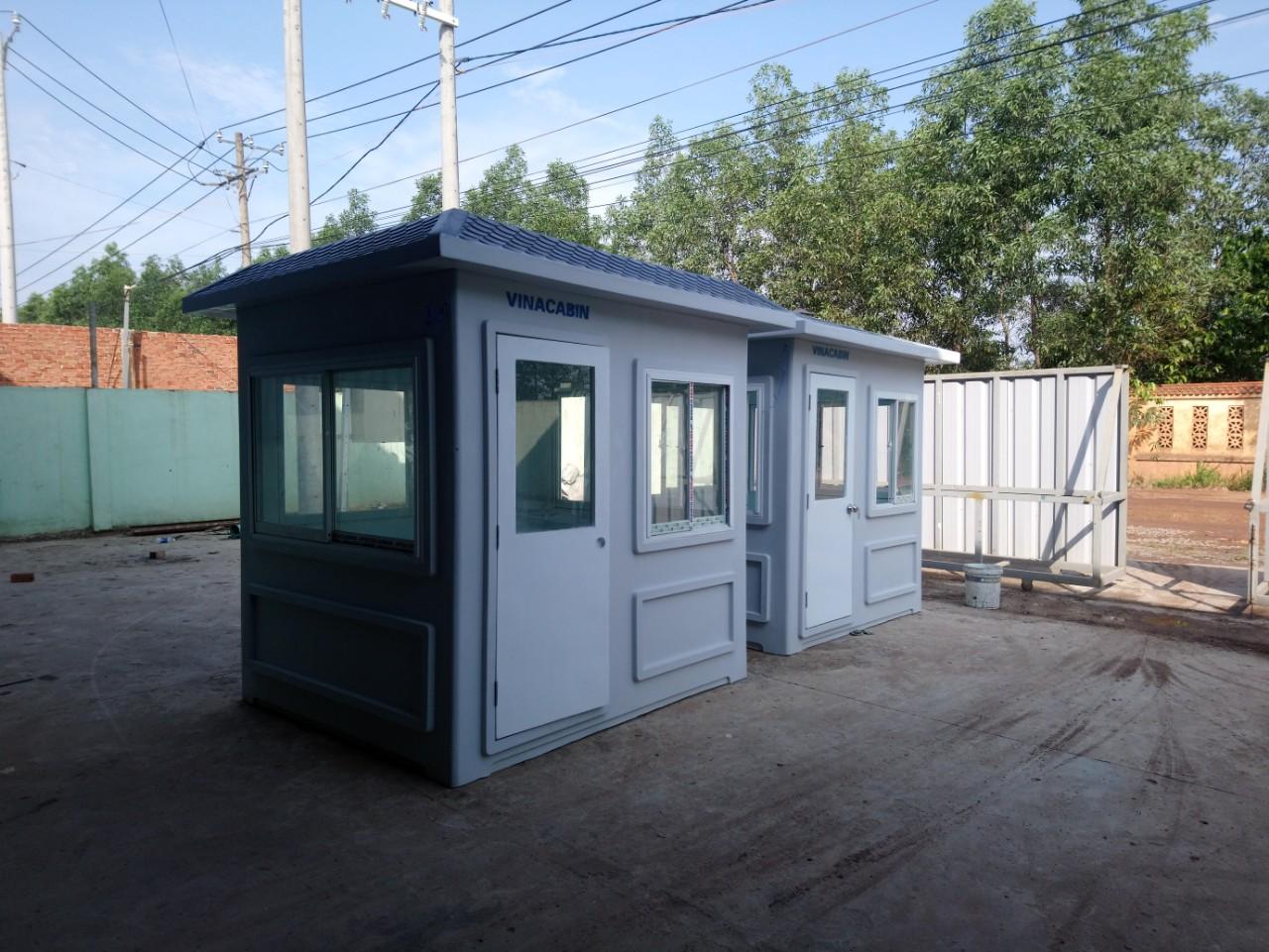 Cabin bảo vệ kích thước thân 1,9m x 2,15m phủ bì 2,3m x 2,55m