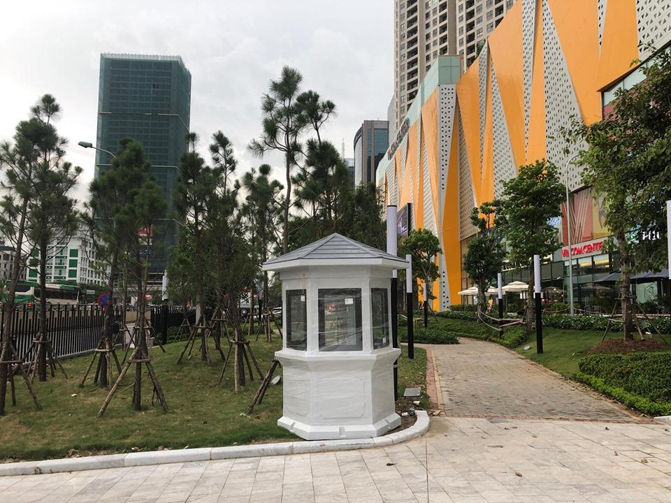 Nhà bảo vệ Vinacabin được thiết kế phù hợp với cảnh quan sân vườn