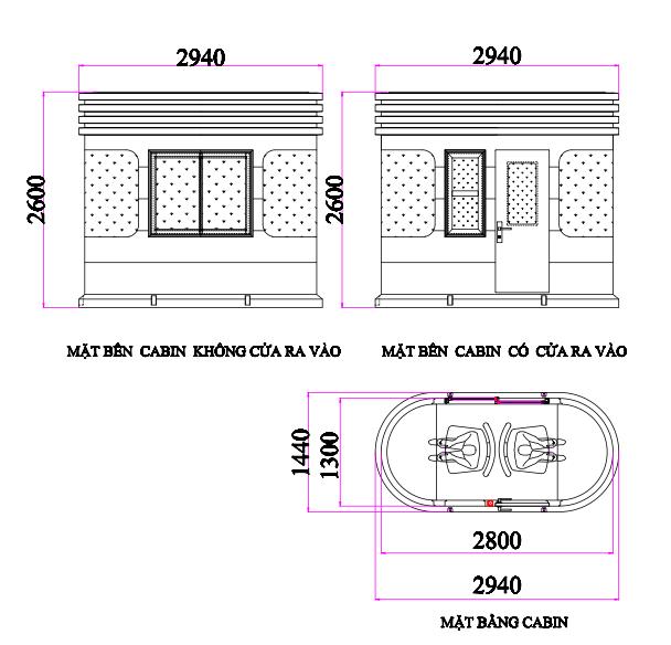 Kich thươc cabin VR2H1300