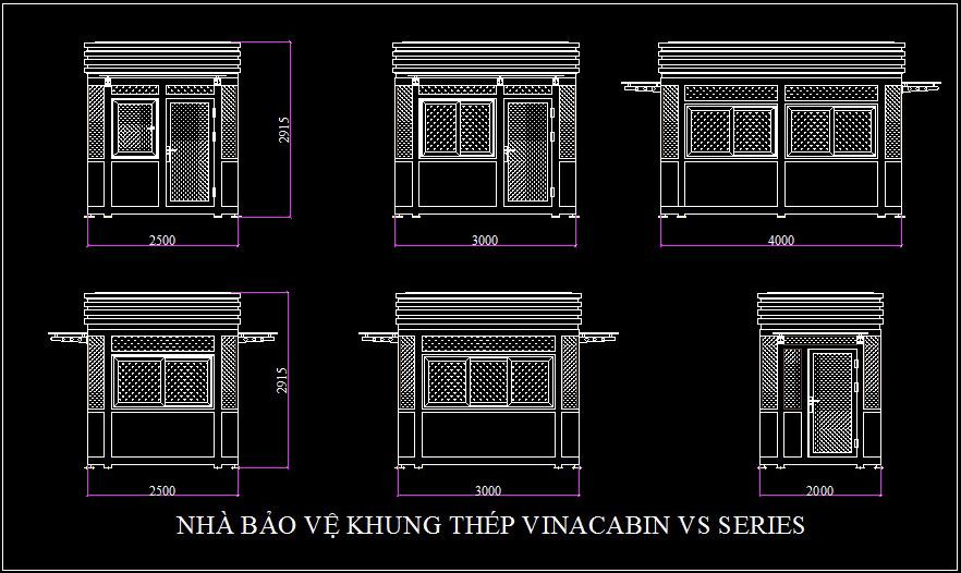 Mẫu thiết kế nhà bảo vệ Vinacabin VS