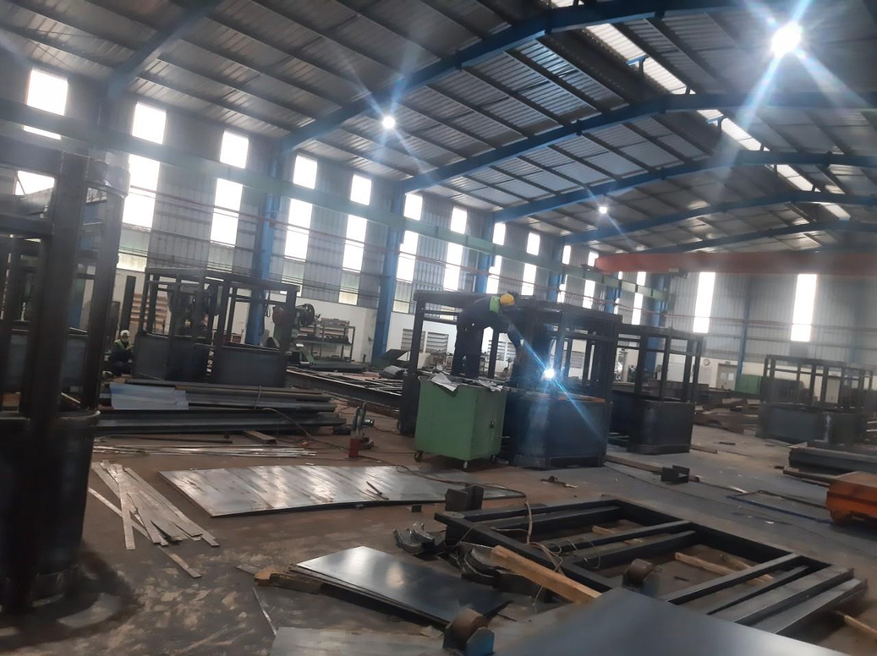 Sản xuất nhà bảo vệ bằng kết cấu thép